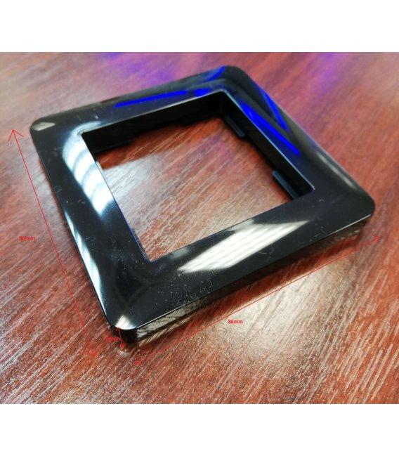 Black frame for Heatit thermostats (HEATIT Z-TRM2 BLACK KIT)