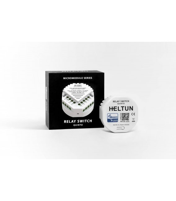 HELTUN Relay Switch Quinto (HE-RS01), Z-Wave relé modul 5x5A