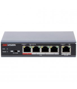 Hikvision DS-3E0105P-E Switch, 5 Portu, PoE