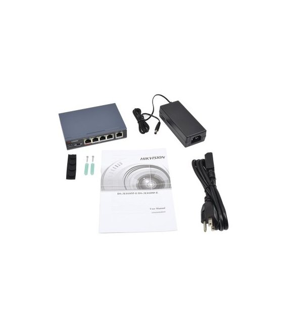 Hikvision DS-3E0105P-E Switch, 5 Portov, PoE