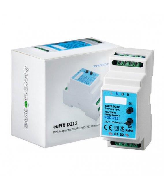 Eutonomy euFIX D212 DIN adaptér (s tlačidlom)