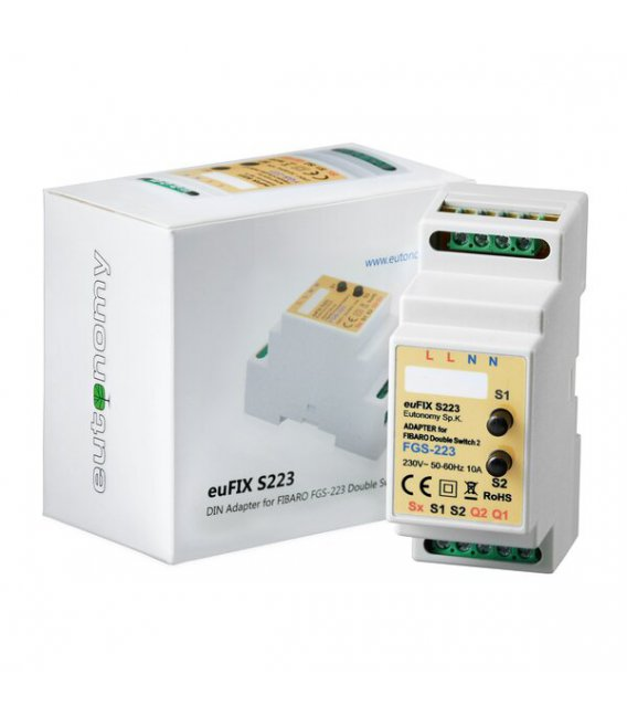 Eutonomy euFIX S223 DIN adaptér (s tlačítkem)