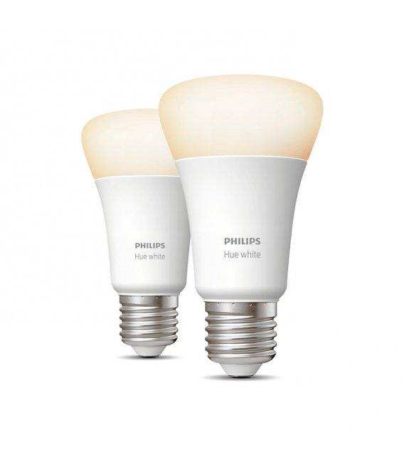 Philips HUE White 2-pack, E27 socket (ZB+BT)