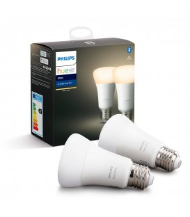Philips HUE White 2-pack, E27 socket (ZB+BT)