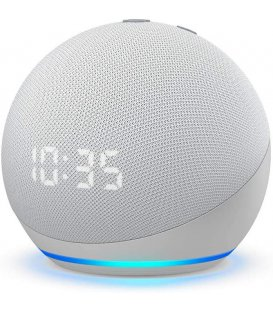 Amazon Echo Dot 4th generation with clock Glacier White