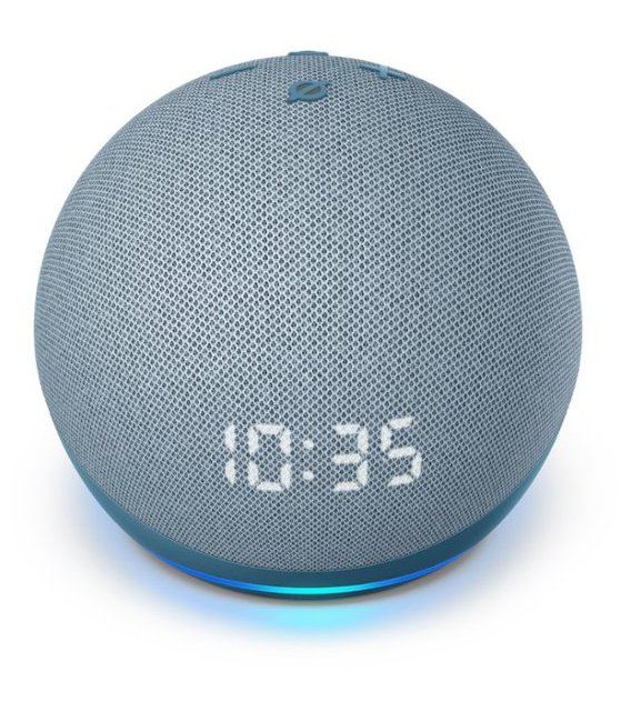 Amazon Echo Dot 4th generation with clock Twilight Blue