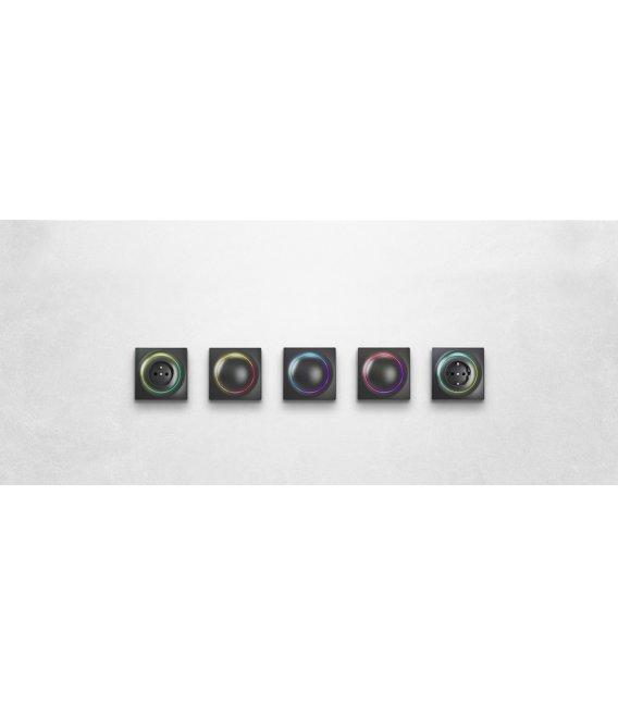 Inteligentní zásuvka - FIBARO Walli Outlet type E Anthracite (FGWOE-011-8)