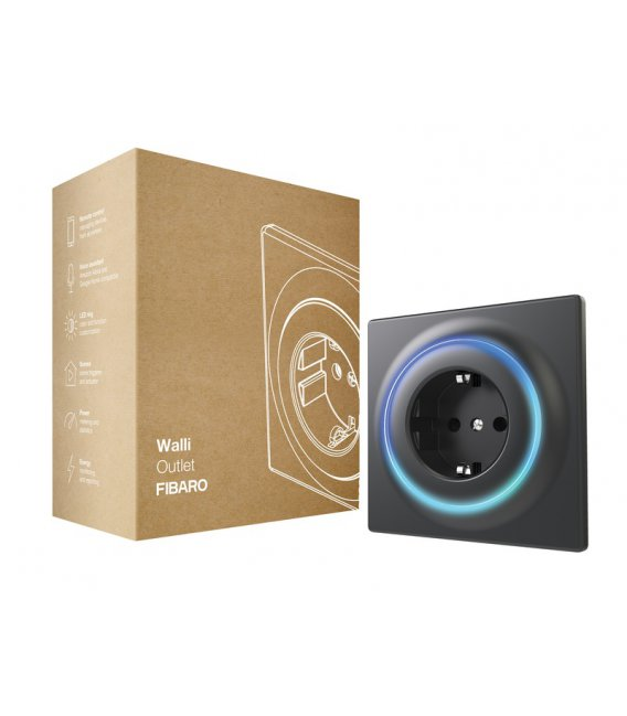 FIBARO Walli Outlet type F Anthracite (FGWOF-011-8)