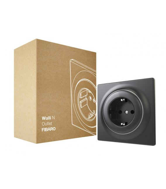 FIBARO Walli N Outlet typ F Anthracite (FGWSONF-011)
