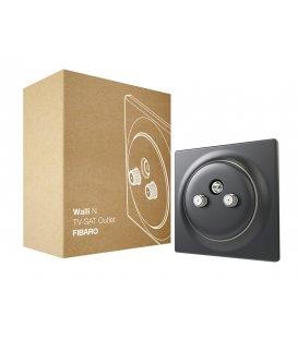 Koaxiální zásuvka bez inteligence - FIBARO Walli N TV-SAT Outlet Anthracite (FGWTFEU-021-8)