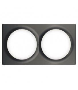 Dvojrámik pre vypínače Walli - FIBARO Walli Double Cover Plate Anthracite (FG-Wx-PP-0003-8)