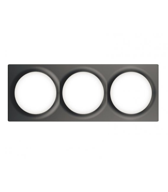 FIBARO Walli Triple Cover Plate Anthracite (FG-Wx-PP-0004-8)