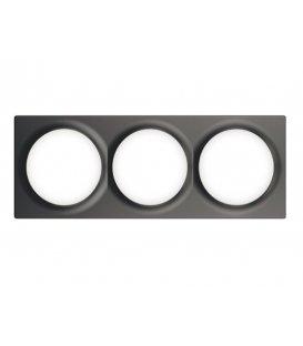 Trojrámik pre vypínače Walli - FIBARO Walli Triple Cover Plate Anthracite (FG-Wx-PP-0004-8)