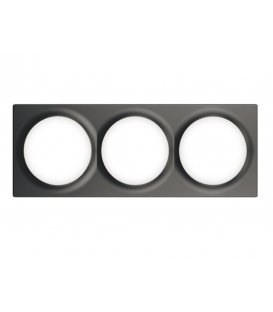Trojrámik pro vypínače Walli - FIBARO Walli Triple Cover Plate Anthracite (FG-Wx-PP-0004-8)