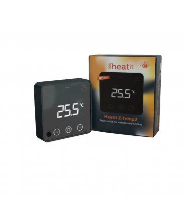 HEATIT Z-Temp2 Černý, Z-Wave bateriový termostat