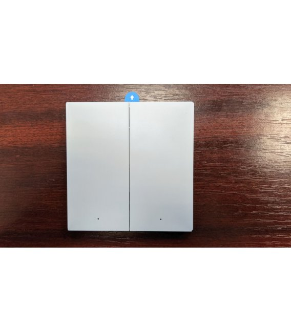 Zigbee double button battery wall switch - AQARA Wireless Remote Switch H1 Double Rocker (WRS-R02)