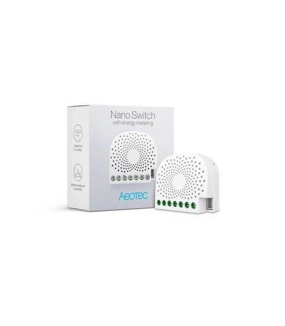 Inteligentný spínač - AEOTEC Nano Switch with Energy-Use Metering (ZW116-C)