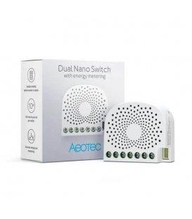 Inteligentní dvojspínač - AEOTEC Dual Nano Switch with Energy-Use Metering (ZW132-C)