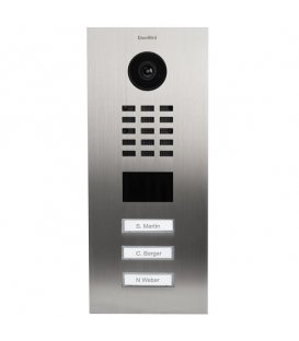 DoorBird D2103V, Flush-mounting, Stainless steel V2A, Brushed (3 buttons)