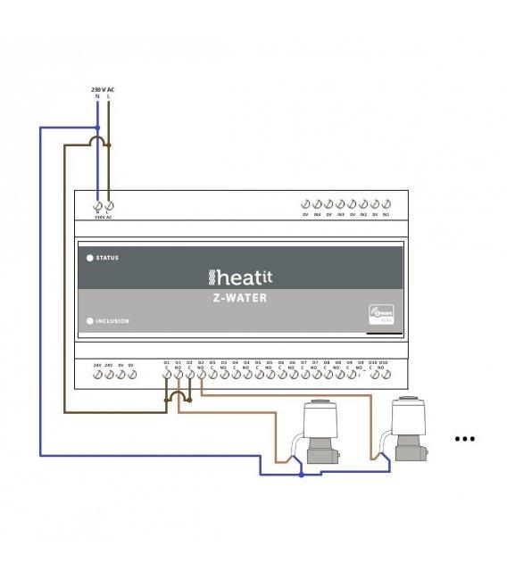 Heatit Z-Water, ovládání vodního podlahového topení 10 okruhů