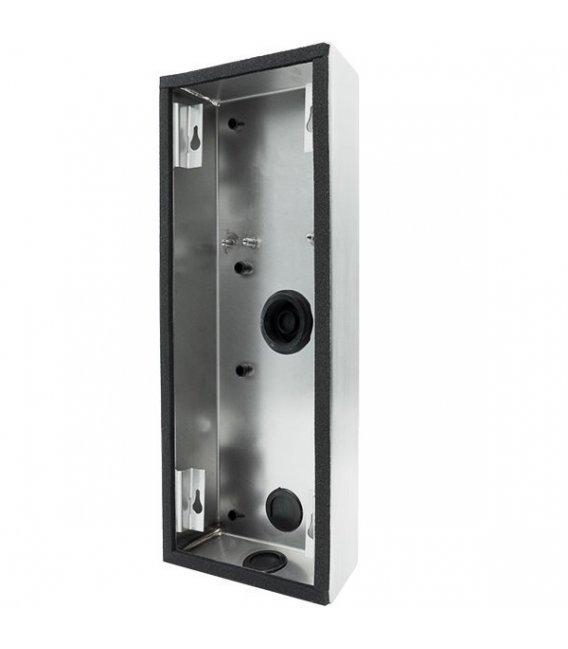 DoorBird D2102V/D2103V Surface-mounting housing (backbox), stainless steel V2A, brushed
