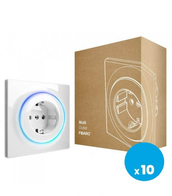 FIBARO Walli Outlet type F (FGWOF-011), 10pack
