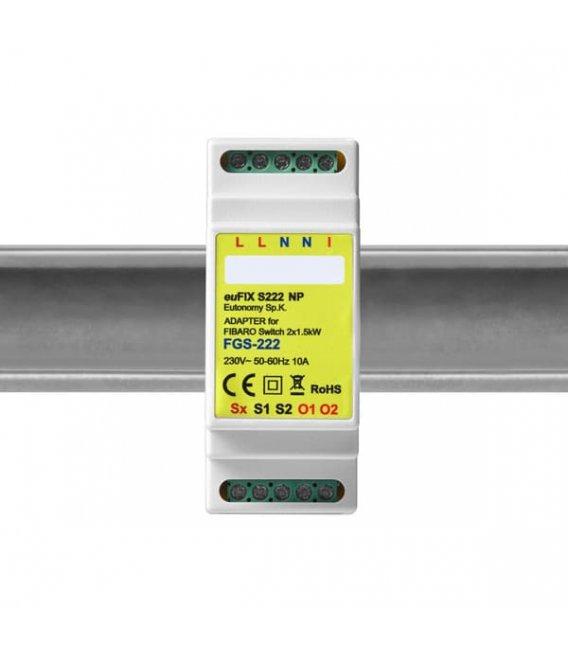 Eutonomy euFIX S222NP DIN adaptér (bez tlačidla)