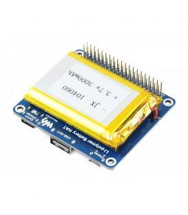 Waveshare Li-polymer Battery HAT, 5V výstup, s batériou pre Raspberry Pi