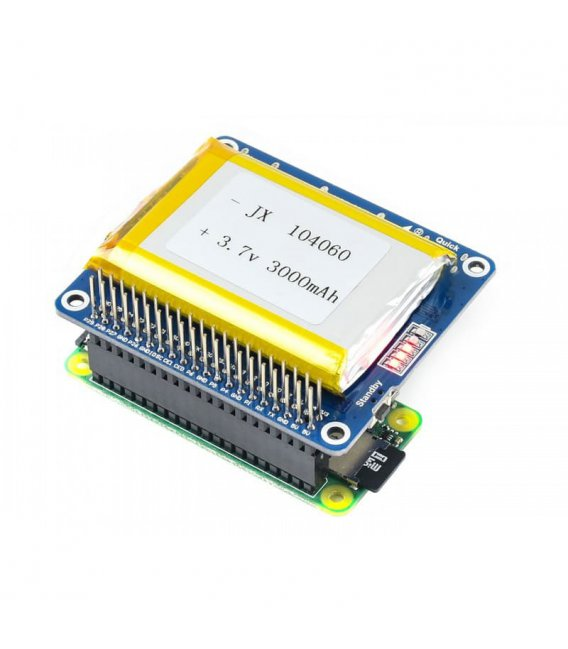 Waveshare Li-polymér Battery HAT, 5V výstup, s batériou