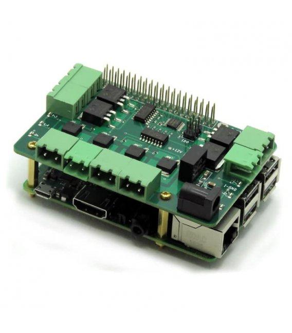 Stohovateľný modul s ôsmimi MOSFETy pre Raspberry Pi