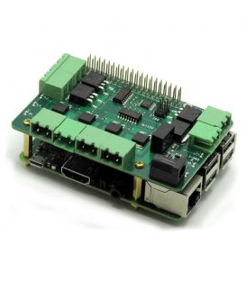 Stackable module with eight MOSFETs for Raspberry Pi