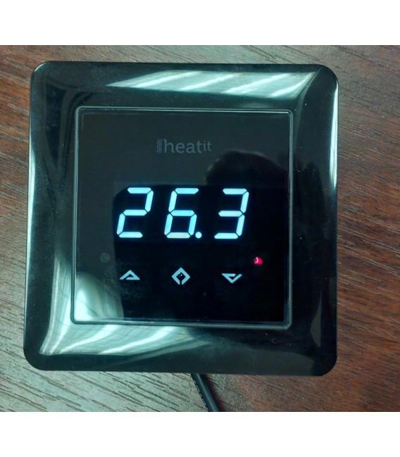 Heatit Z Wave Thermostat Black Z Wave Wall Thermostat