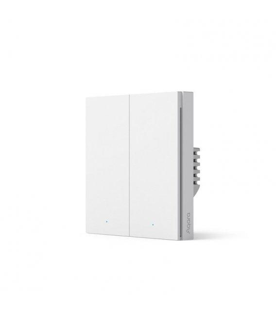 Zigbee wallswitch with double relay - AQARA Smart Wall Switch H1 EU (No Neutral, Double Rocker) (WS-EUK02)