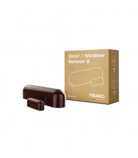 FIBARO Door / Window Sensor 2 (FGDW-002-7 ZW5) - Dark Brown