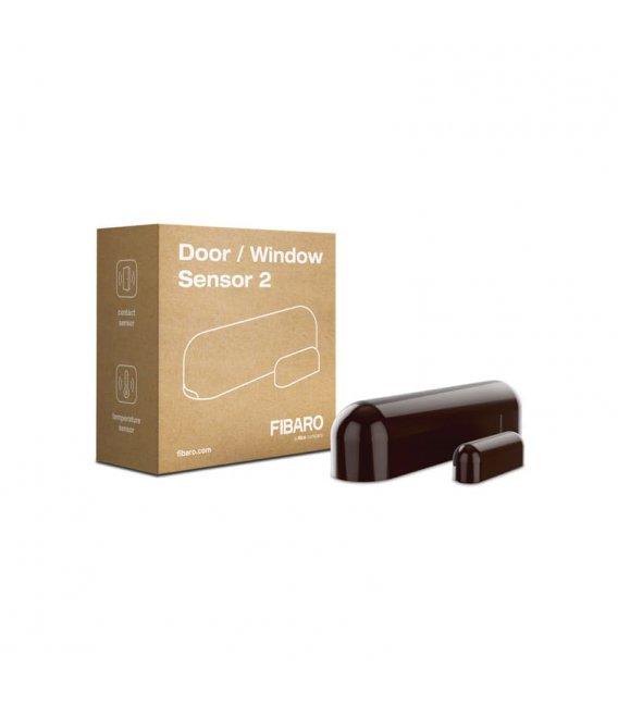 Dverový alebo oknový senzor - FIBARO Door / Window Sensor 2 (FGDW-002-7 ZW5) - Tmavo hnedý