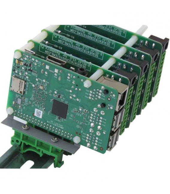 Vertical DIN rail holder for Raspberry Pi type 2
