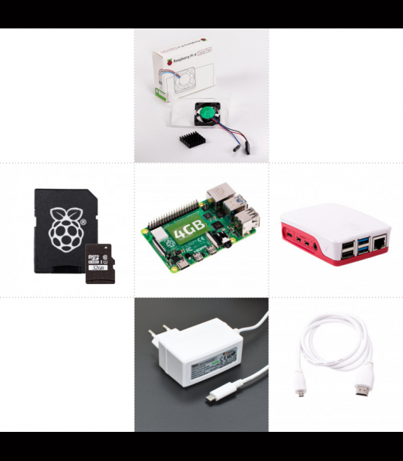 Zonepi set with Raspberry Pi 4, 4GB RAM, 32GB card, official box, white