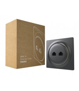 Ethernetová zásuvka bez inteligence - FIBARO Walli N Ethernet Outlet Anthracite (FGWEEU-021-8)