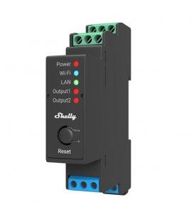 Shelly Pro 2 - spínací modul 2x 16A (LAN, WiFi, Bluetooth)