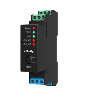 Shelly Pro 2PM - relay switch with power metering 2x 16A (LAN, WiFi, Bluetooth)