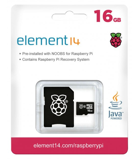 Raspberry Pi 16GB Noobs Micro SD Karta