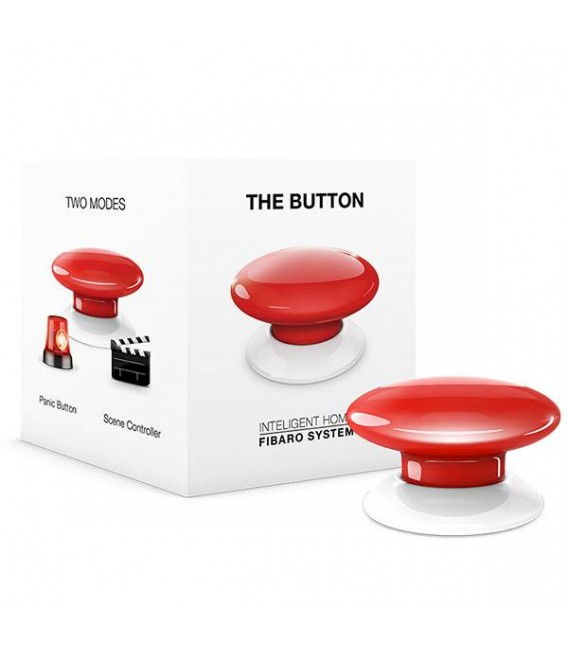 Fibaro Button - Red (FGPB-101-3)