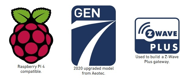 AEOTEC Z-Stick Gen5 Raspberry Pi 4