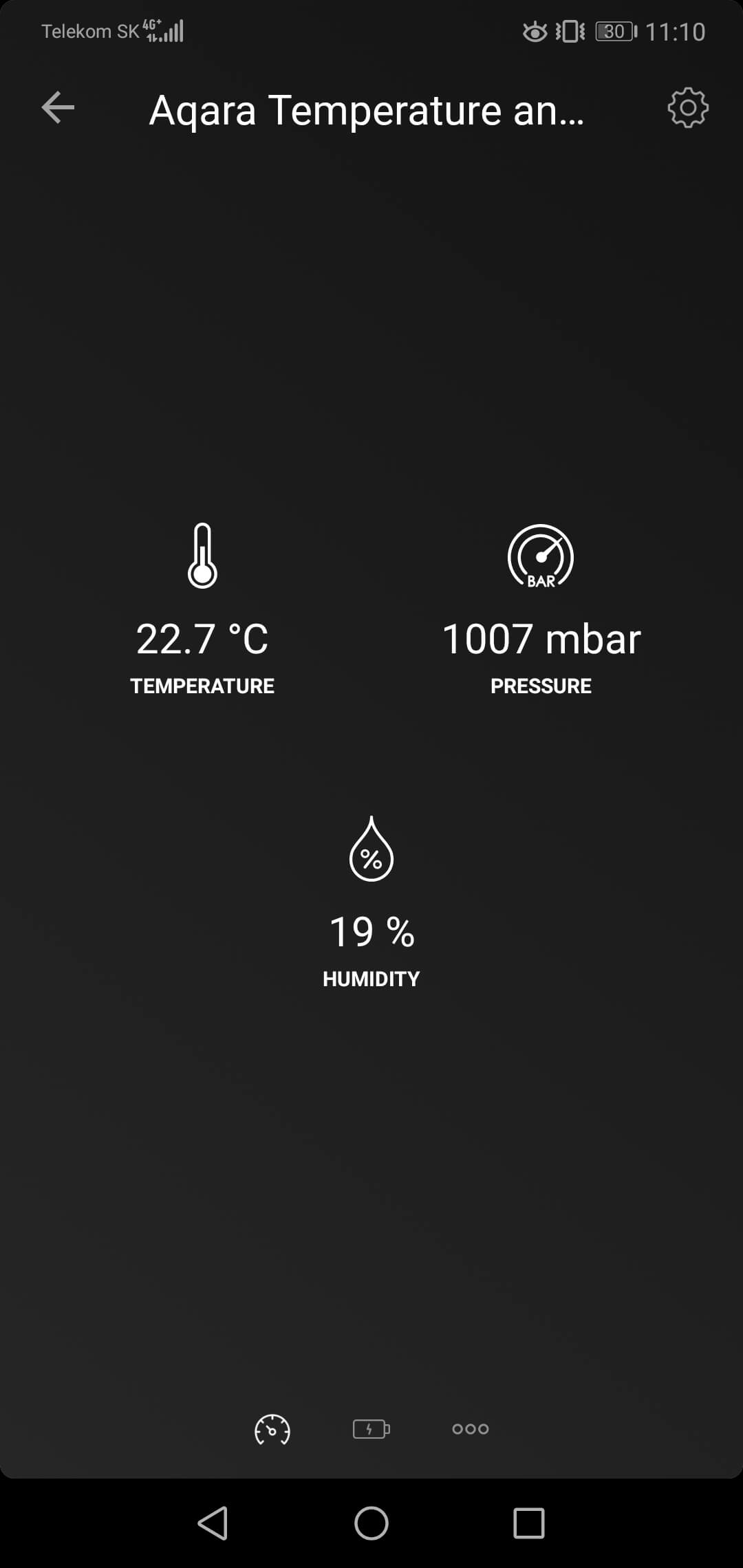 Aqara Temperature and Humidity in Homey App