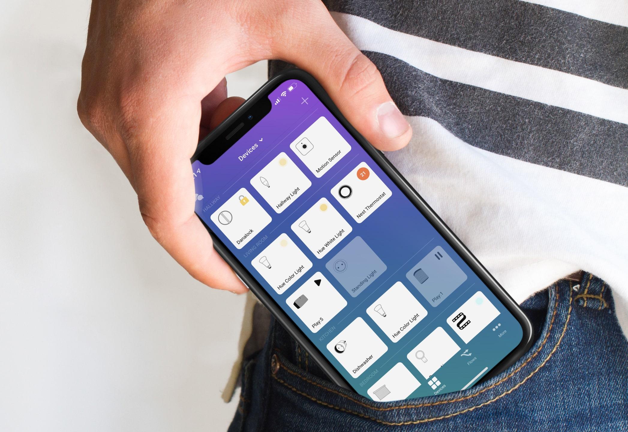 Ovládanie domácnosti cez mobil