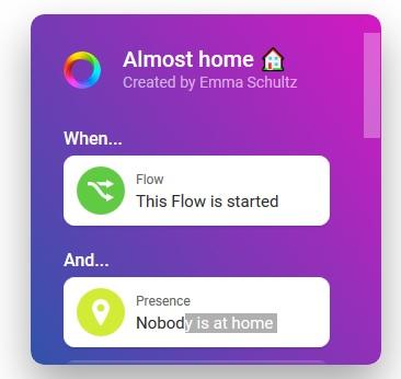 Homey App Widget