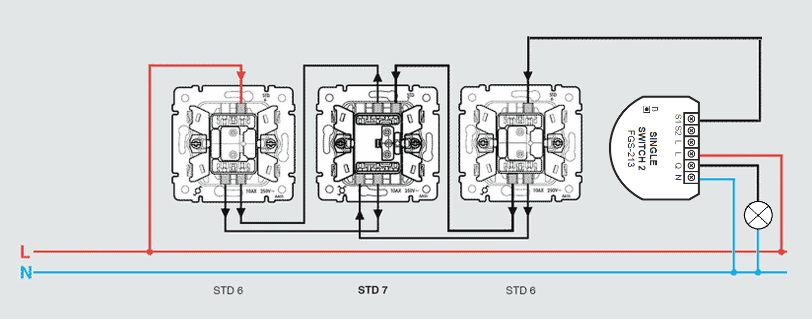 Multiway Switching And Fibaro Single Switch 2 Blog Together With Two Way Light Wiring Diagram Diagrams Std 6 3