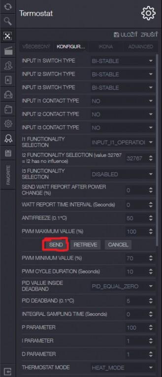 Konfiguracia parametrov Qubino PWM