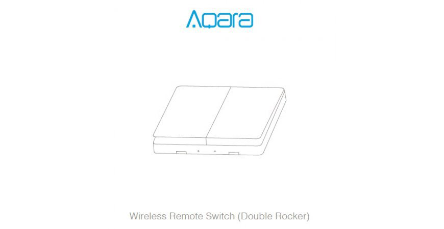 Aqara Wireless Remote Switch (Double Rocker) prvé spustenie