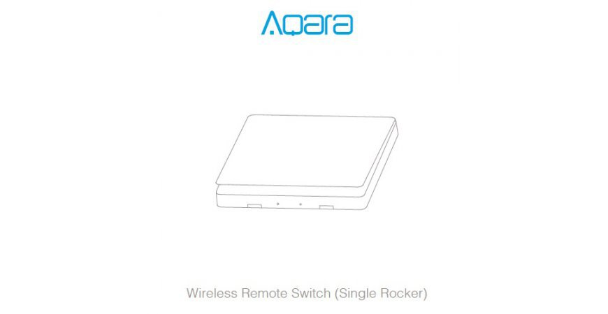 Aqara Wireless Remote Switch (Single Rocker) prvé spustenie